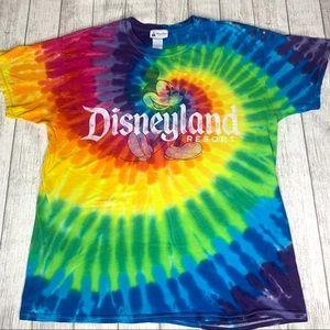 "Disney Parks  ""Disneyland Resort"" tie dye t-shirt."